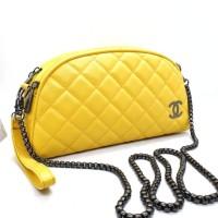 TAS WANITA SELEMPANG Chanel Dompet 3Ruang Tas wanita Rante 3 RUANG