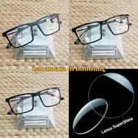 kacamata frame kotak gratis lensa supershine minus dan normal