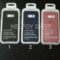 Alcantara Cover Case Samsung S8 Plus ORIGINAL Soft Hard Flip Casing