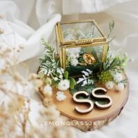 Petite Box Ring Bearer / Kotak Cincin Rustic / Mahar Seserahan