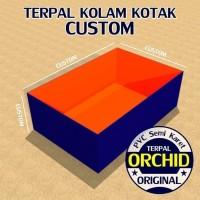 Kolam Terpal Kotak Custom ORCHID PVC Semi Karet