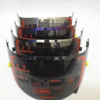 paket flat visor iridium silver + spoiler hucus rc7