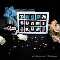 Chocobian Coklat Tulisan Ucapan Ulang Tahun Suami Kado Gift Unik