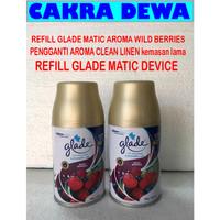 REFILL Pengharum ruangan Glade Matic Device aroma WILD BERRIES 225ml