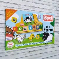 Flashcard The Farm - iSpell Kartu Pintar Membaca Huruf Mainan Edukasi