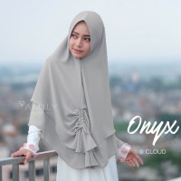 Khimar Onyx by Amily - Khimar Ceruti HQ Polos Murah