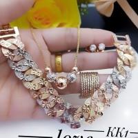 Xuping set perhiasan lapis emas 24k 19116#