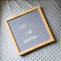 Letter Board SET LENGKAP / Felt letter board / DIY papan huruf GRAY