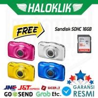 NEW Nikon Coolpix W100 Digital Camera   Sandisk SDHC Ultra 16GB -
