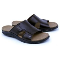 KULIT ASLI Sandal Laki-Laki Branded ORI GC-578 Sandal Pria Casual Gaya