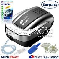 Resun Air-1000C Pompa Udara Complete Aquarium Air Pump + Accessories