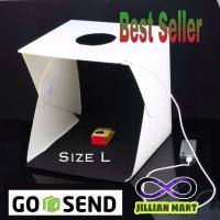 Mini Photo Studio Box SIZE L portable lampu LED kotak foto product