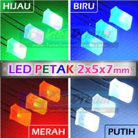 LED Petak 2x5x7mm Square Cube Light Lampu Kotak Pipih Gepeng Diffused