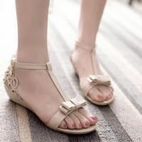 Termurah Sandal Wanita Flat Laser Cream Sdl57 Terlaris