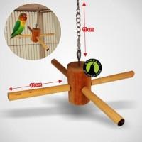 Big Discount Tangkringan Mainan Kayu Fan Perch Sangkar Kandang Burung