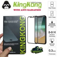 Iphone X Full Cover Tempered Glass Anti Radiasi by Kingkong