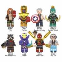 8PC lego kw The Avengers THOR/THANOS/CAPTAIN AMERICA/Spiderman