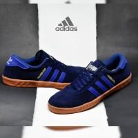 Sepatu Adidas Hamburg / Navy Blue / Biru Pria Running Casual