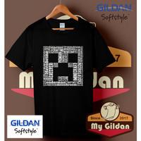 Kaos Original Gildan - T Shirt - MINECRAFT TYPHO - Putih, S