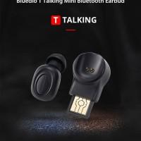 Bluedio T Talking Mini Bluetooth Earphone Wireless Single Smart Voice