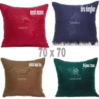 Sarung bantal embos sofa/kursi premium 70 x70
