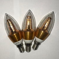 Bohlam Lampu Lilin Cabe LED Candle Hias 5watt E14 not Philips Kuning