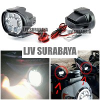 Lampu Tembak Sorot LED Spion Motor Cree 6 Mata 6W 12V-24V Spotlight