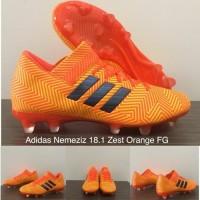 PROMO Sepatu Bola Adidas Nemeziz 18 1 Zest Orange FG TERLARIS