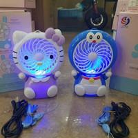 Kipas angin Usb mini fan portable karakter Doraemon & Hello kitty