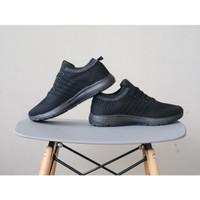 sepatu olahraga running sneakers adidas import full black