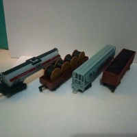 miniatur Kereta api gerbong paket railking