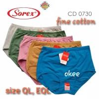 Celana Dalam Wanita Jumbo/Sorex Ql/XXL /CD wanita Jumbo EQL/XXXL Murah