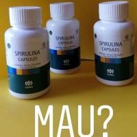 masker spirulina termurah asli tiens herbal isi 10 kapsul