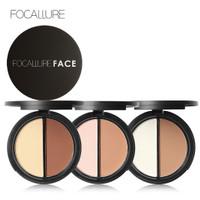 FOCALLURE Highlighter & Contour Double Powder Palette FA05
