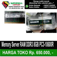 Memory Server RAM DDR3 8GB PC3-10600R