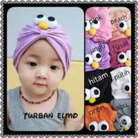 turban baby elmo-anak-kids-bayi-topi-kupluk-ciput