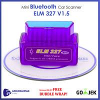 Car Scanner Bluetoot ELM327 V1.5 OBD2 for Android IOS Alat Scan Mobil