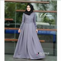 Pakaian Baju Busana Muslim Wanita Maxi Dress MAURA Gamis Terbaru
