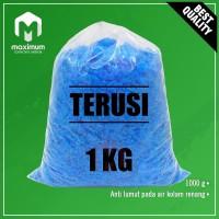 Terusi - Copper Sulfate 1 kg - Pembiru Anti Lumut Kolam Renang