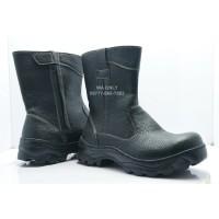Sepatu Safety - Sepatu model King - Sepatu ujung Besi Pake Ressleting