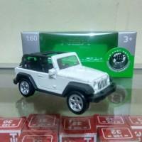 Jeep Wrangler Rubicon putih Diecast mobil sport Welly skala 60 murah