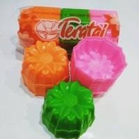 Cetakan Plastik Kue Kukus Puding Agar Cokelat Jelly Bunga Teratai 12pc