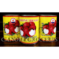 LYCHEE CAN / BUAH LECI KALENG /LYCHEES IN SYRUP HERRING BRAND