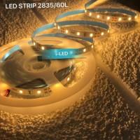 Lampu LED Strip 60L IP33 2835 3528 Kuning Warm White 3000K Fleksibel