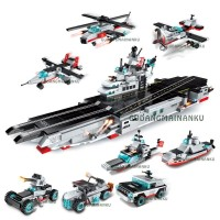 Lego Qman Enlighten Carrier Warship 1406 (8 macam) Pangkalan Udara