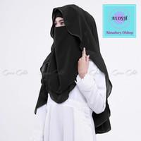 Hijab Niqab Lis Original Cadar Sifon - Hitam