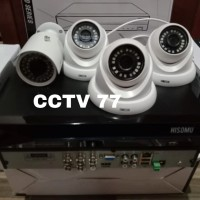 PAKET MURAH 4 CAMERA CCTV HISOMU 3 MP 1080P 1 IN 3 OUT HARDISK 500GB