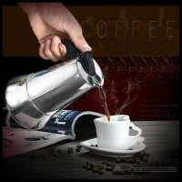 Teko Kopi Moka Pot Stainless Ekspreso Coffe Maker 100 Ml 2 Cup