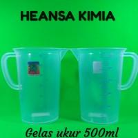 Gelas Ukur Green leaf tebal 500ml
