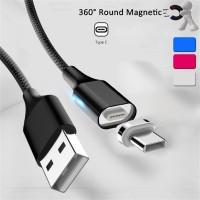 2.1A Kabel Adapter Charger Magnetik Tipe C untuk Samsung iPad Pro 11